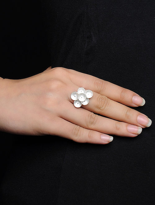 Classic Adjustable Silver Ring