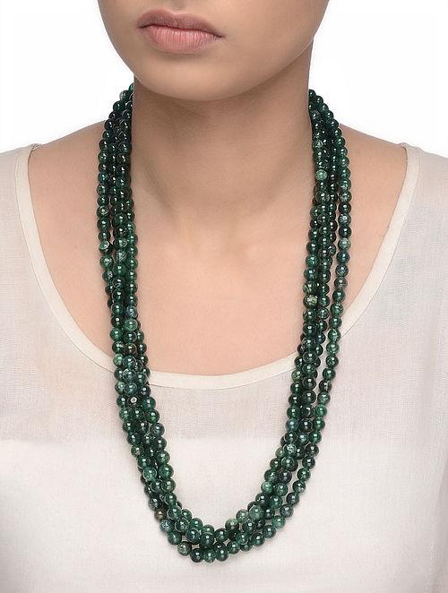 Aventurine Beaded Multi-string Necklace