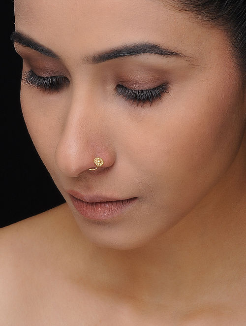 Gold-plated Silver Nose Pin