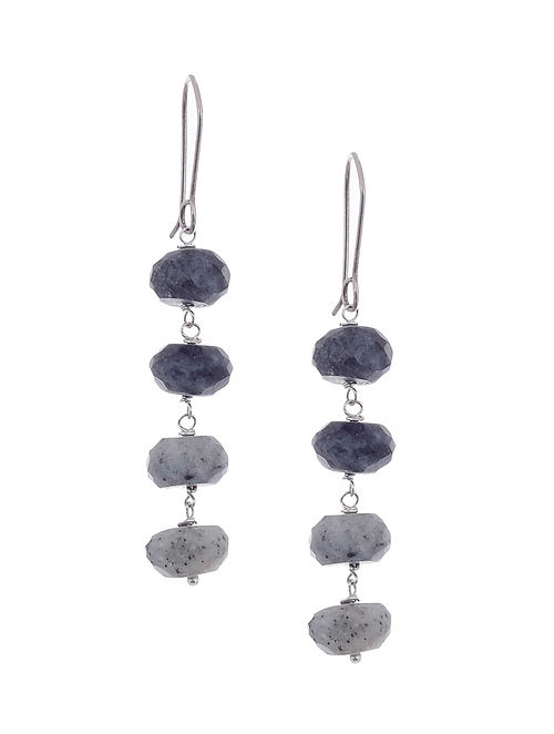 Jasper Silver Earrings