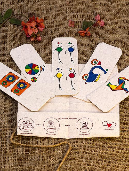 Multicolored Handmade Bookmark-Set of 5