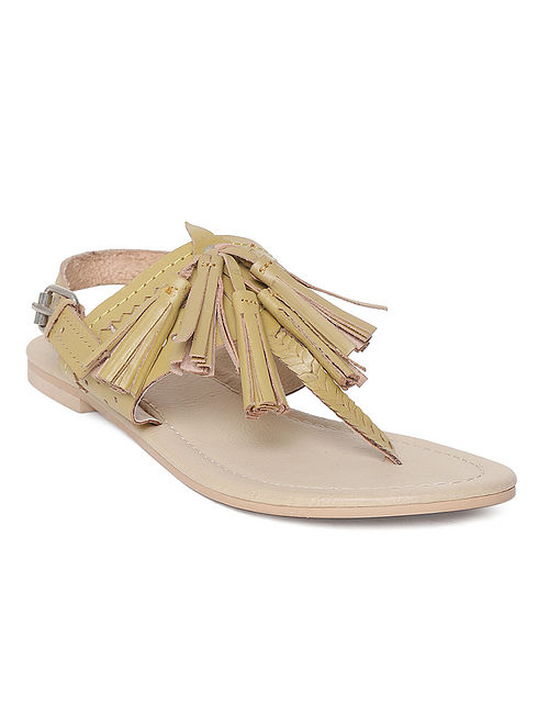 Mustard Handcrafted Leather Sandals