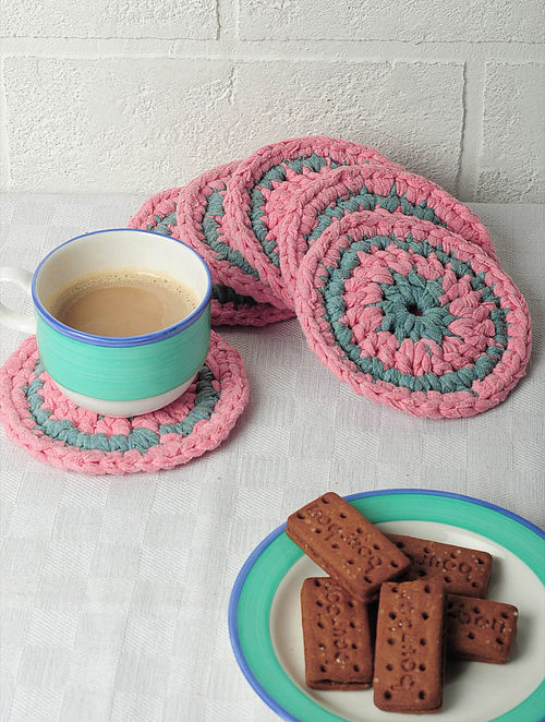 Recycled Coasters-Set of 6 4.5in x 4.5in
