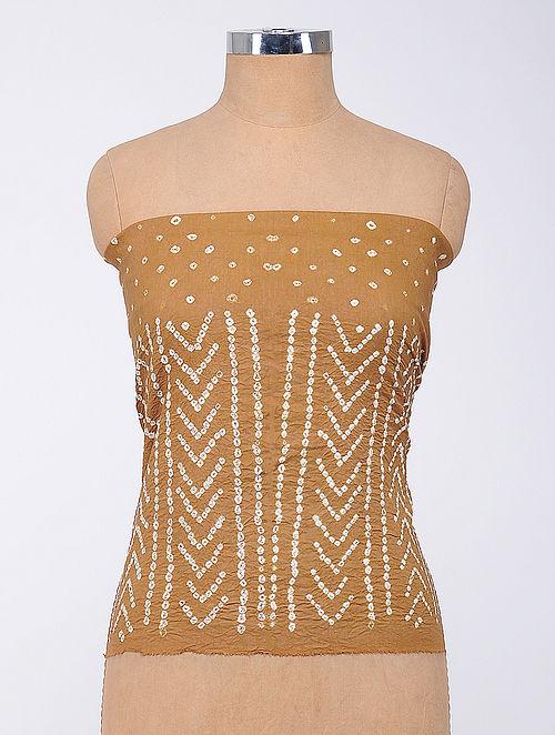 Mustard Bandhani Cambric Blouse Fabric