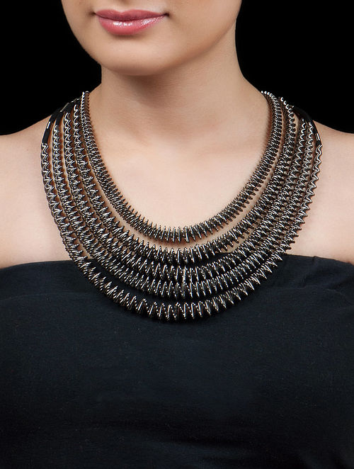 Gun Metal - Black African Necklace