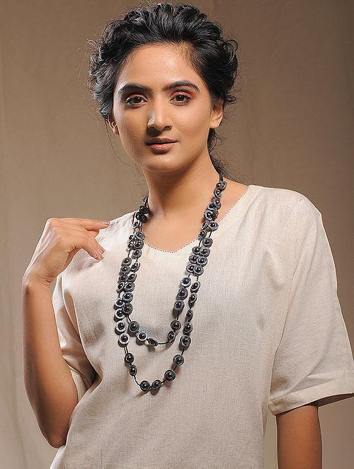 Black-Grey Multi-string Necklace