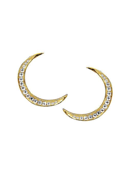 Gold and Polki Diamond Earrings