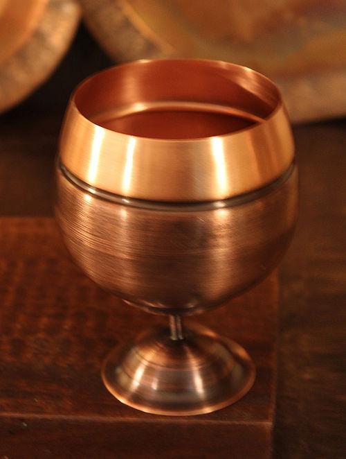 Jaipuri Handcrafted Copper Jaltarang Goblet (Dia:3.3in, H:4.5in)