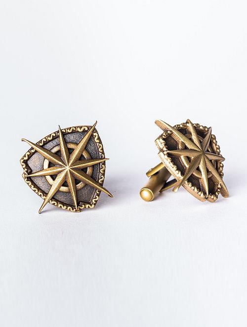 Gold Tone Handcrafted Cufflinks