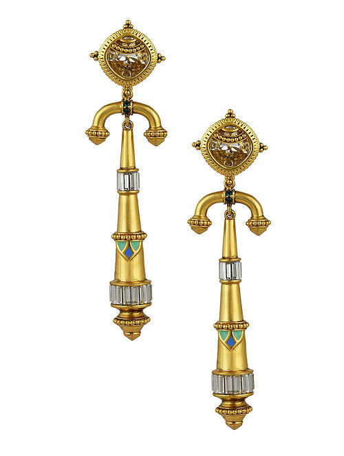 AMRAPALI- Baroque Arc Earrings Made with Swarovski Crystals