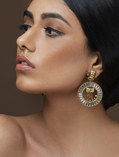 AMRAPALI- Baroque Grandeur Earrings Made with Swarovski Crystals