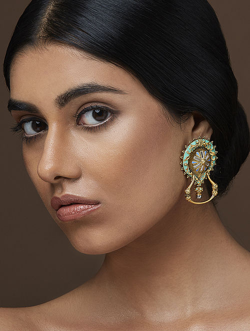 AMRAPALI- Baroque Magnifique Earrings Made with Swarovski Crystals & pearls