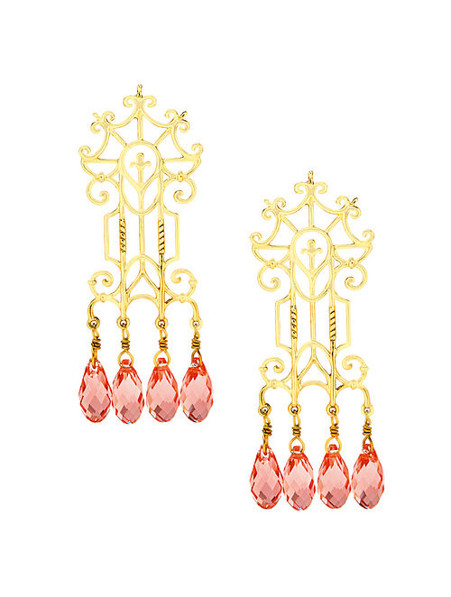 EINA AHLUWALIA-FE Trellis Earrings Made with Swarovski Crystals