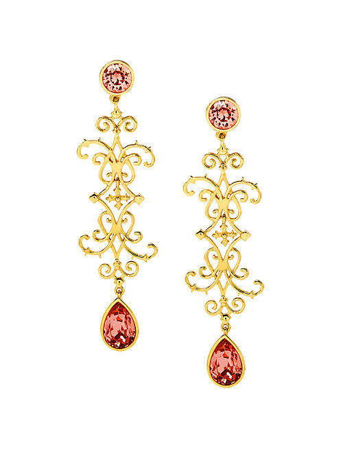 EINA AHLUWALIA-FE Baluster Earrings Made with Swarovski Crystals