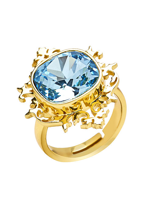 EINA AHLUWALIA-FE Frame Ring Made with Swarovski Crystals