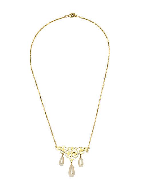 EINA AHLUWALIA-FE Vine Necklace Made with Swarovski Crystals & pearls