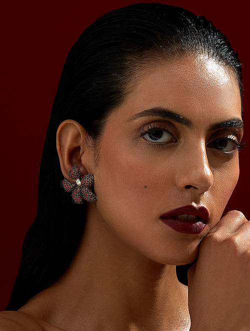 ROHIT BAL- Guldastah Studs Made with Swarovski Crystals