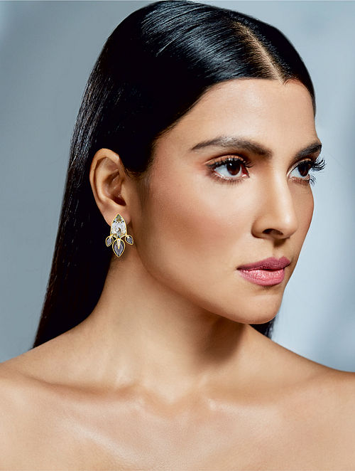 Confluence Crystals From Swarovski Isharya Night Song Lilly Earrings