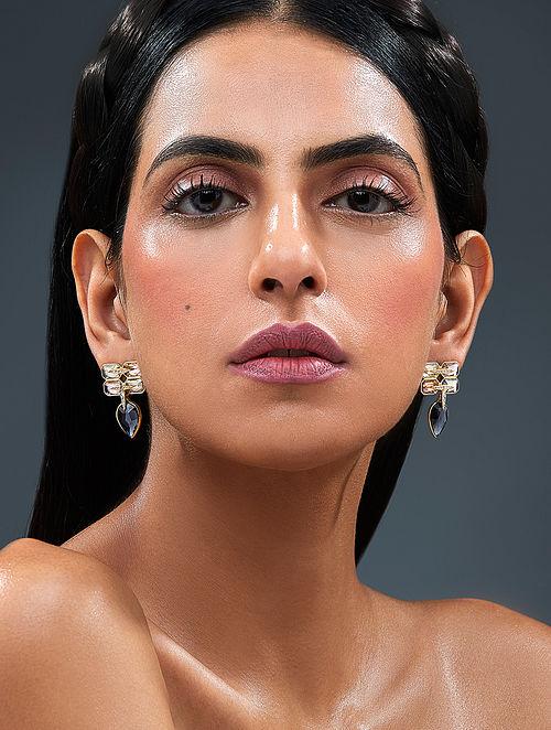 ISHARYA-Night Song Brick Earrings Made with Swarovski Crystals