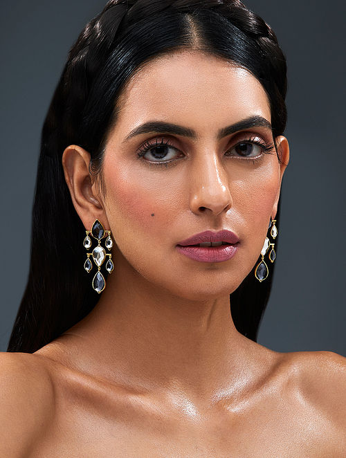 ISHARYA-Night Song Dew Drop Earrings Made with Swarovski Crystals