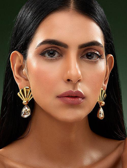 SHIVAN & NARRESH-Edomer Flaring Fruit Earrings Made with Swarovski Crystals