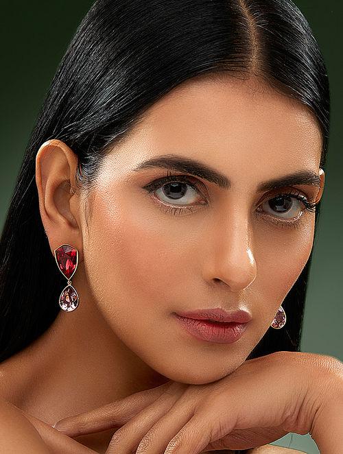 SHIVAN & NARRESH-Edomer Chester Fall Earrings Made with Swarovski Crystals