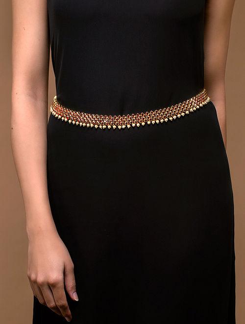 Tarun Tahiliani- Luminescent Tasselated Belt Made with Swarovski Crystals & pearls