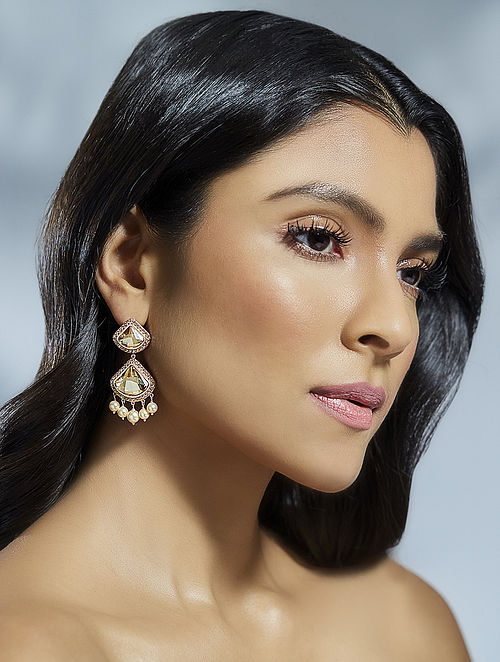 SUNEET VARMA-Enchanted Forest  Celestial Earrings Made with Swarovski Crystals & pearls