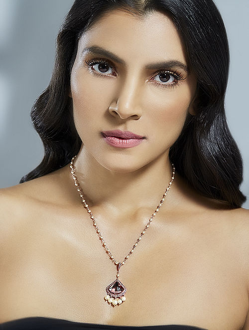 Confluence Crystals from Swarovski Suneet Varma Celestial Pink Necklace