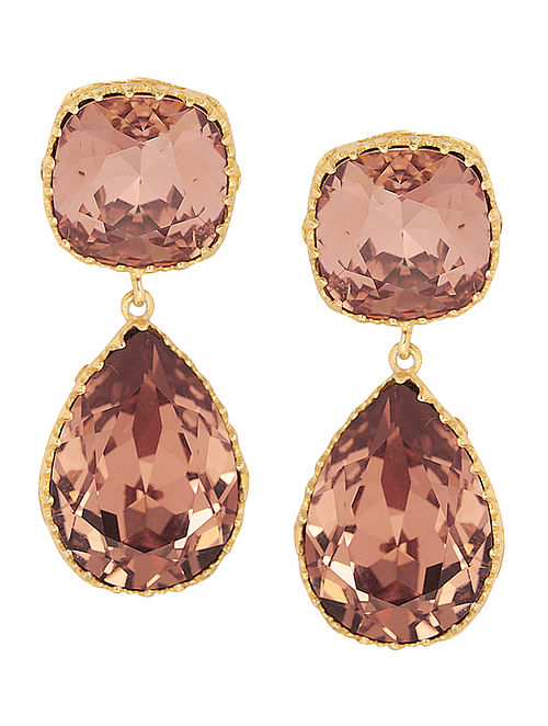 EINA AHLUWALIA-FE Persian Back Jaal Earrings Made with Swarovski Crystals