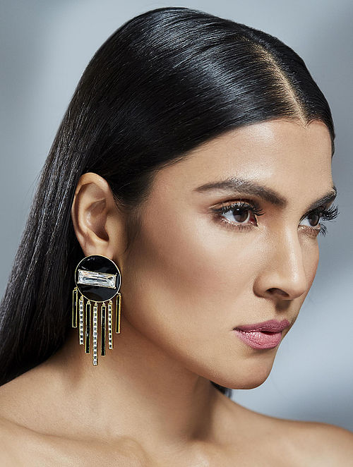 SHIVAN & NARRESH- Mini Chandelier Earrings Made with Swarovski Crystals