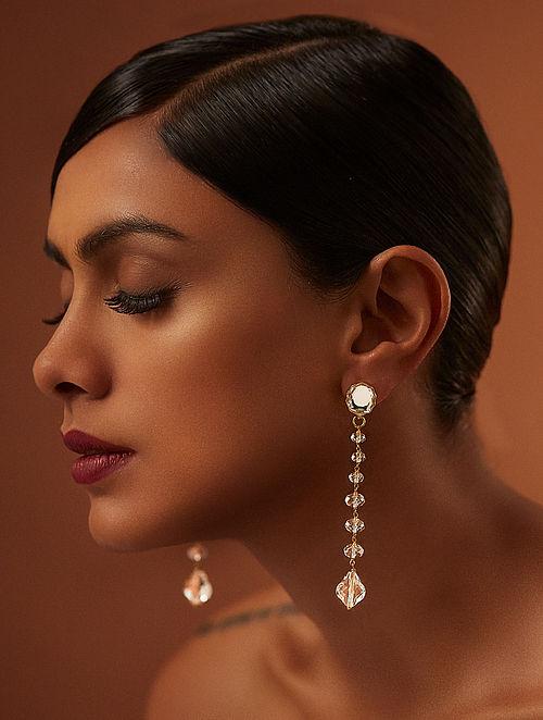 TARUN TAHILIANI-Tarakanna Pure Drop Earrings Made with Swarovski Crystals