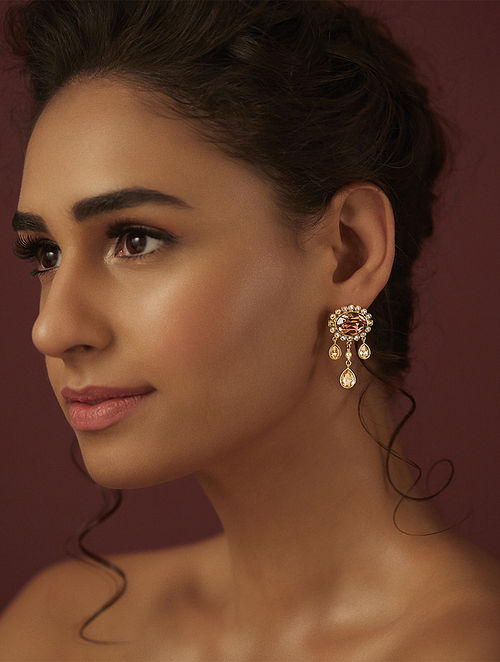 SUNEET VARMA- Enchanted Forest Classic Earrings Made with Swarovski Crystals