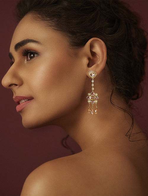 Confluence Crystals from Swarovski Suneet Varma Enchanted Forest briolette drop Earring