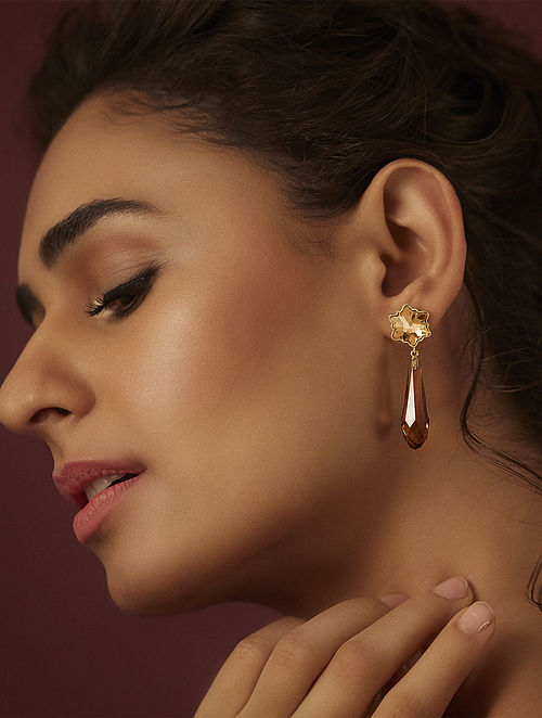 SUNEET VARMA-Enchanted Forest  Pure Drop Earrings Made with Swarovski Crystals