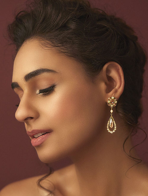Confluence Crystals from Swarovski Suneet Varma Enchanted Forest Petite Drop earring