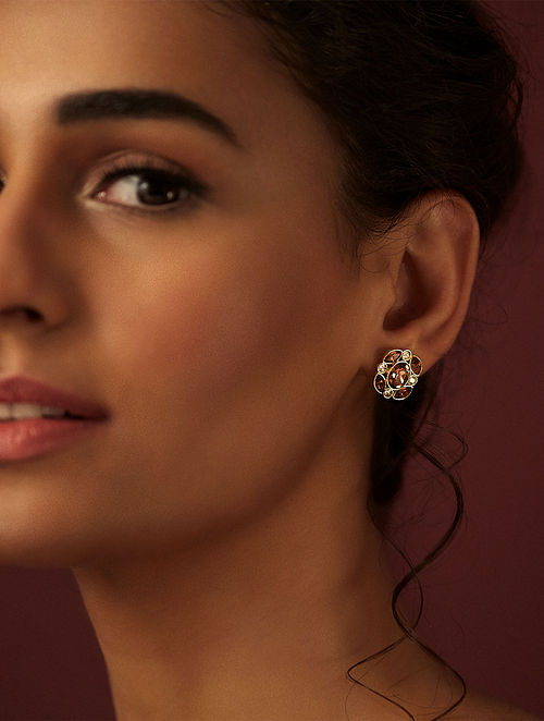 SUNEET VARMA- Ennchanted Forest Petite Stud Earings Made with Swarovski Crystals