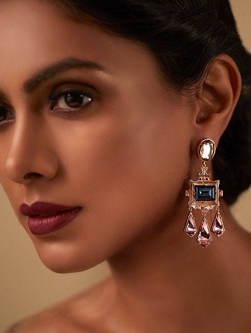 EINA AHLUWALIA- La Rinascita Montanna Drop Earrings Made with Swarovski Crystals