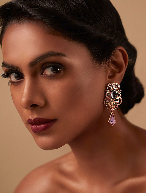 EINA AHLUWALIA-La Rinascita  Petite Earrings Made with Swarovski Crystals