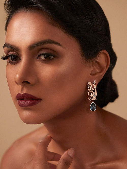 EINA AHLUWALIA- La Rinascita Nouveau Earrings Made with Swarovski Crystals