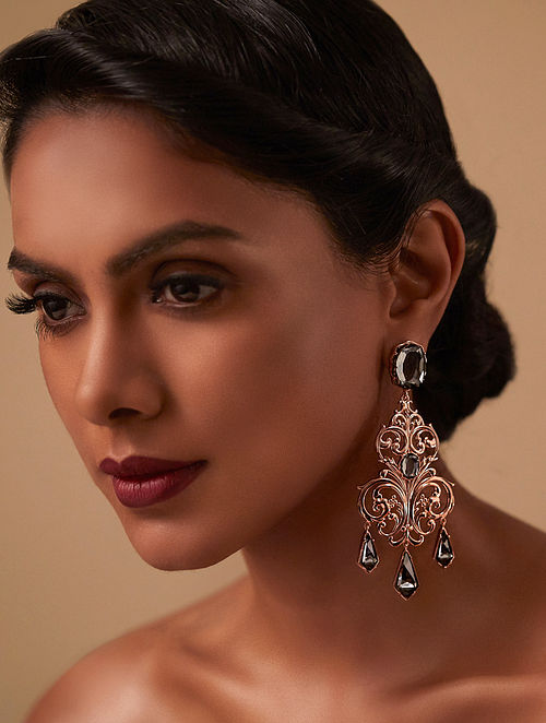 EINA AHLUWALIA- La Rinascita Royal Chandelier Earrings Made with Swarovski Crystals