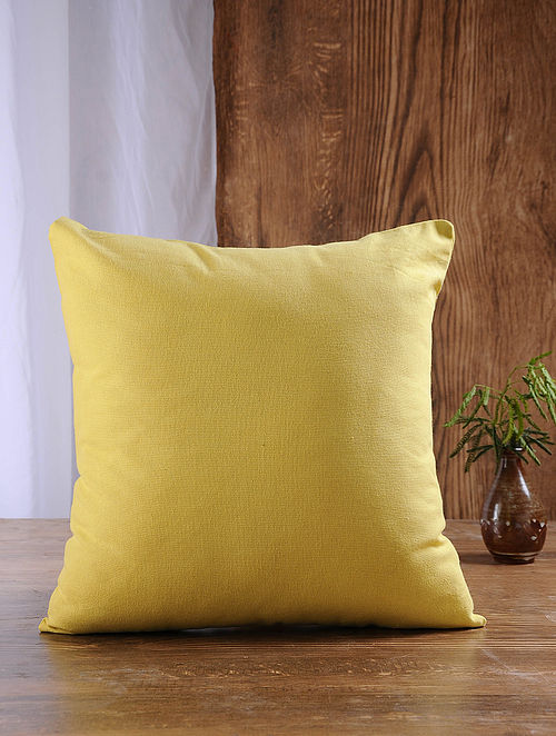 Mustard Cotton Cushion Cover (16in x 16in)