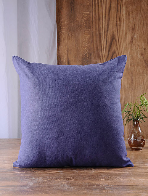 Navy Cotton Cushion Cover (16in x 16in)