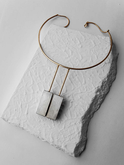 Dual Tone Handcrafted Necklace
