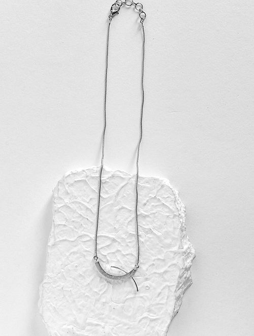 Silver Tone Handcrafted Necklace