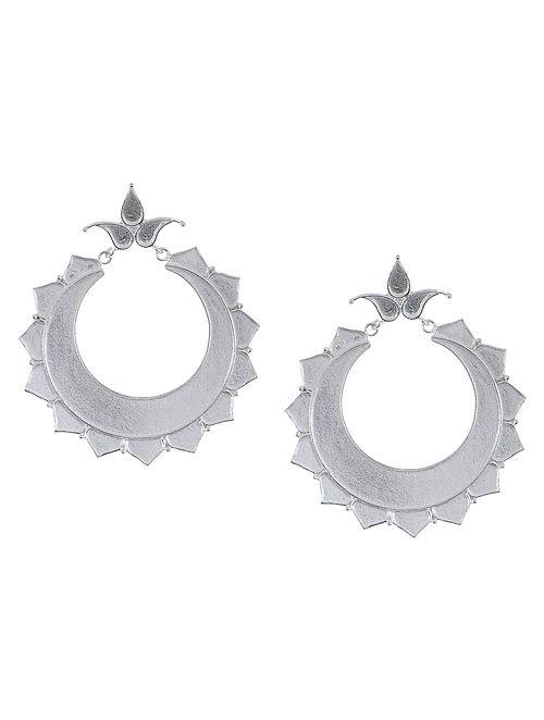 Floral Silver Earrings by Deepa Sethi