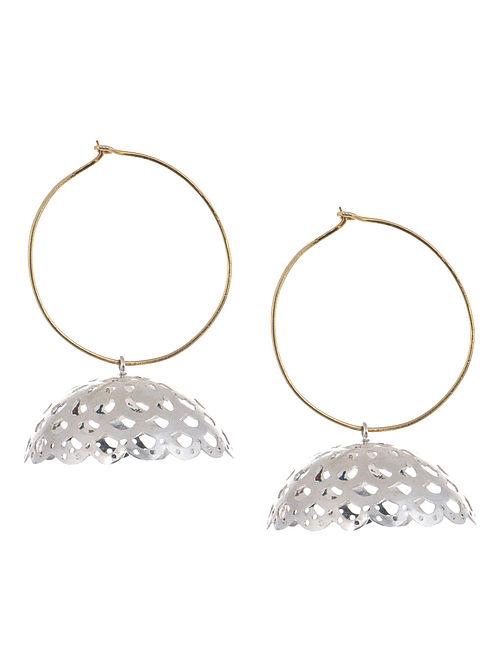 Cutwork Silver Earrings by Deepa Sethi