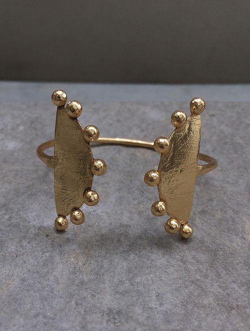 Classic Gold Tone Adjustable Brass Cuff