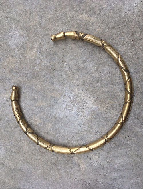 Classic Gold Tone Brass Bracelet