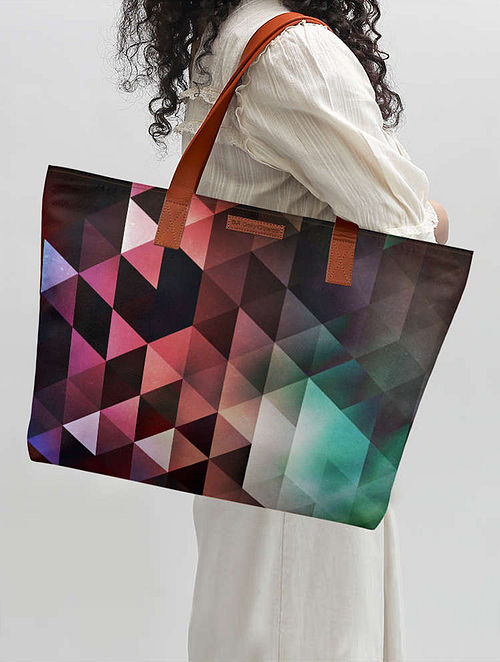 Multicolored Printed Tote